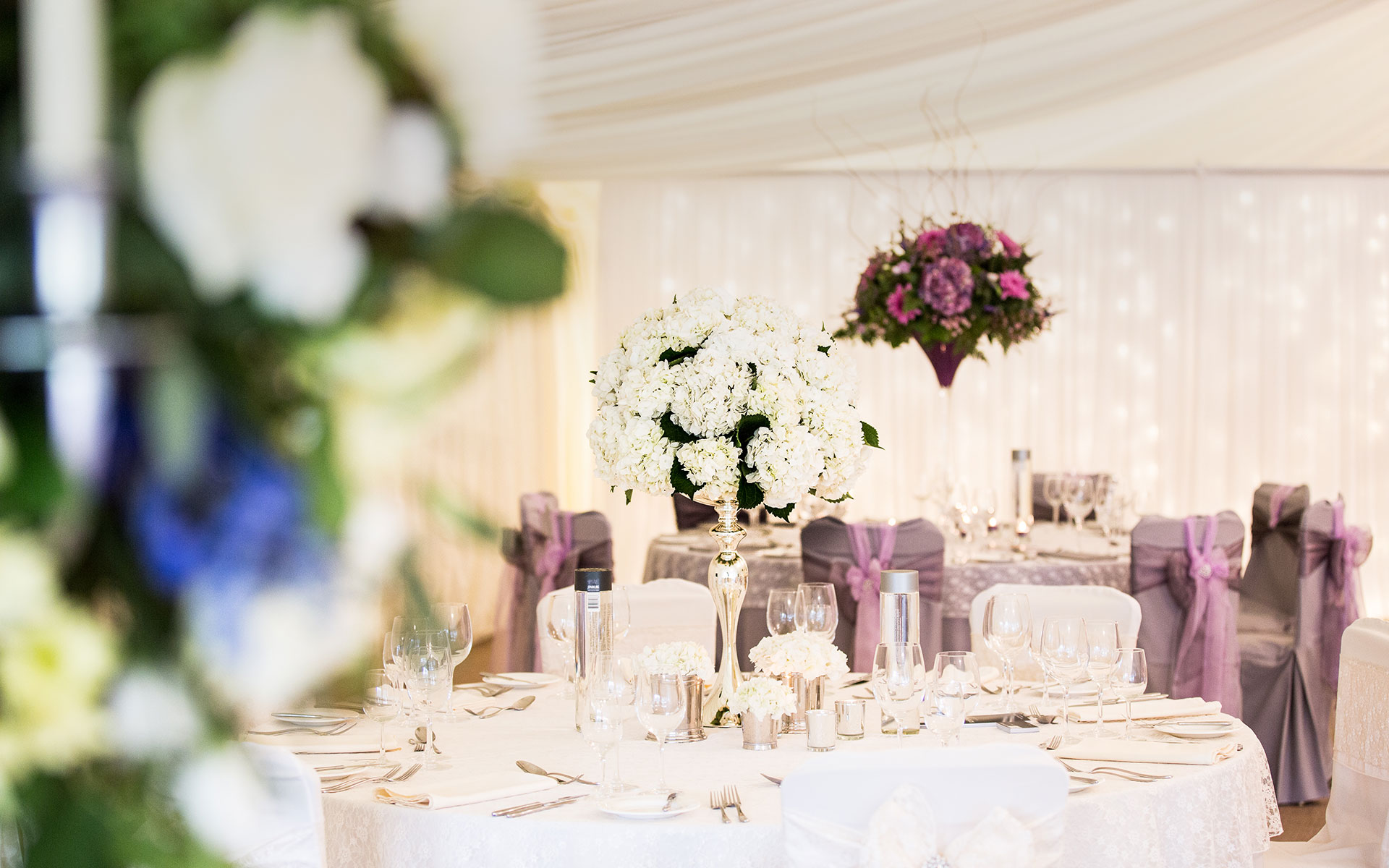 Weddign table flowers